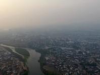 Улан-Удэ снова окутало дымом от лесных пожаров в соседнем регионе (ВИДЕО)