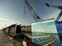 Монтаж мостового пролета автомобильного моста через Керченский пролив, 23 июня 2016 года