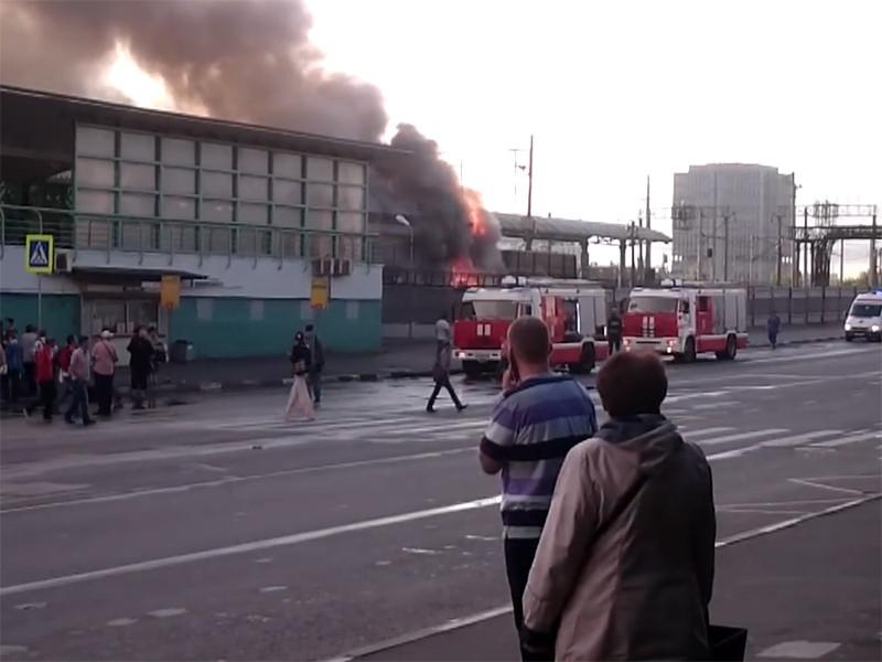 """Пожар на станции """"Выхино"""""""