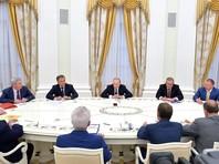 Путин встретился с лидерами думских фракций