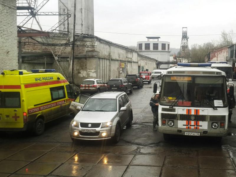"""Горноспасатели проводят работы по укреплению кровли аварийного участка на шахте """"Юбилейная"""" в Кемеровской области, где под завалами остаются два горняка"""
