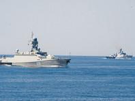 """Корабли Каспийской флотилии уничтожили учебные """"минные заграждения"""""""