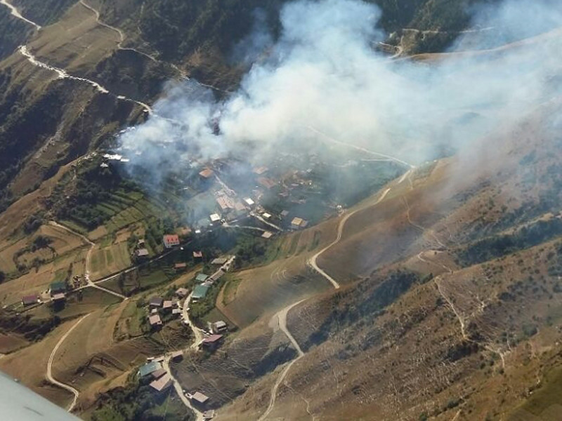 Пожар в дагестанском селе Мокок ликвидирован, огонь уничтожил 20 домов и повредил более 80 построек