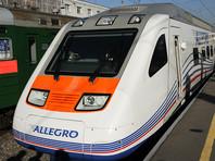 """Поезд """"Аллегро"""" из Петербурга в Хельсинки врезался в дерево на путях, движение остановлено"""
