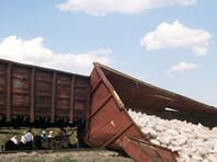 В Саратовской области под товарным поездом обрушился железнодорожный мост