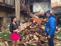 Стена 98-летнего жилого дома обрушилась на Урале