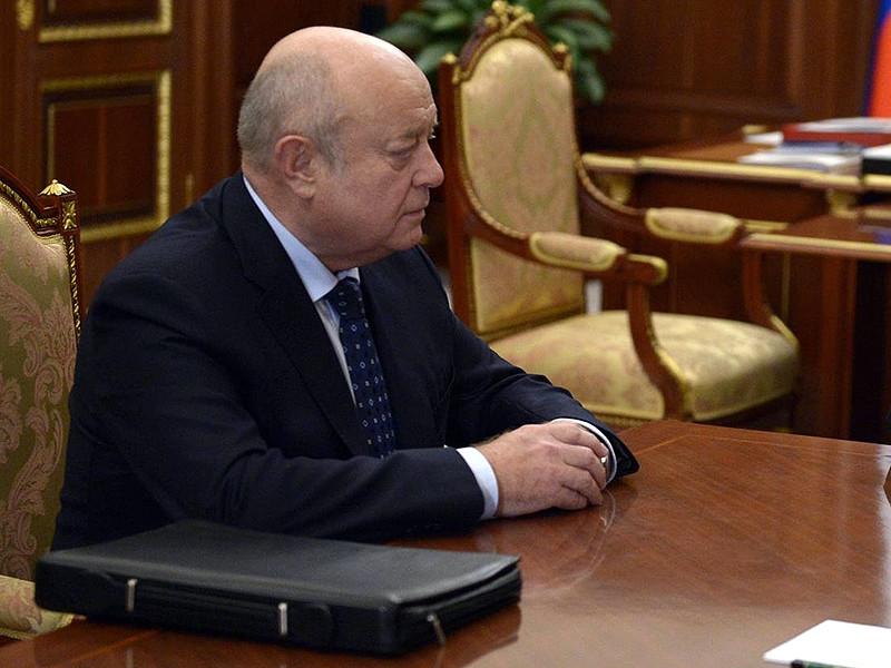 Назначению Михаила Фрадкова, анонсированному почти месяц назад пресс-секретарем президента РФ Дмитрием Песковым, могло помешать то, что экс-глава СВР с 2014 года находится в санкционном списке ЕС