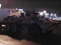 Бронетранспортер Росгвардии столкнулся с грузовиком на МКАД (ВИДЕО)