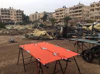 Мобильный госпиталь министерства обороны РФ в Алеппо после обстрела, 5 декабря 2016 года
