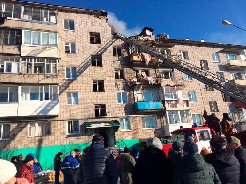 Взрыв бытового газа с последующим пожаром произошел в многоквартирном жилом доме в городе Советская Гавань в Хабаровском крае