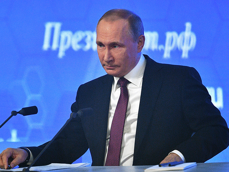 Путин в двенадцатый раз проводит в Москве большую пресс-конференцию