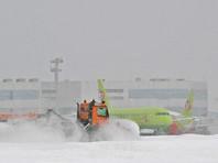 В заснеженных столичных аэропортах отменяют и задерживают десятки рейсов