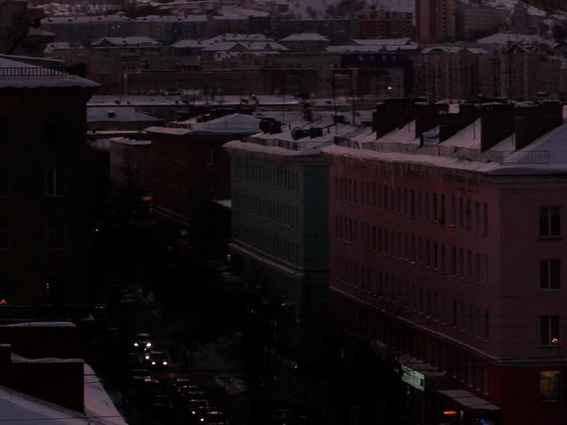 Масштабный блэкаут произошел в субботу в Мурманске