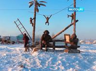 """Якутский """"навозный скульптор"""" надеется успеть создать очередное творение к Новому году, несмотря на перенесенную операцию (ФОТО)"""
