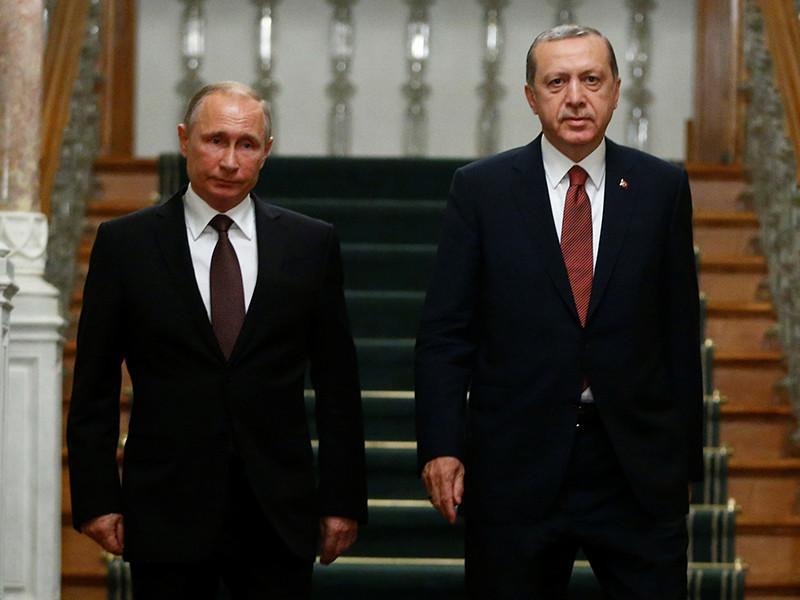 Путин обсудил с Эрдоганом ход расследования убийства российского посла в Анкаре