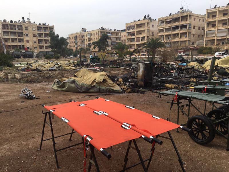 5 декабря мобильный госпиталь Минобороны РФ в Алеппо подвергся артиллерийскому обстрелу