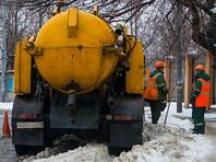 Одна из наиболее загруженных улиц Хабаровска в понедельник, 23 января, оказалась затоплена по колено