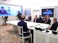 """Путин по видеосвязи заслушал доклад о начале летных испытаний нового истребителя """"МиГ-35"""""""