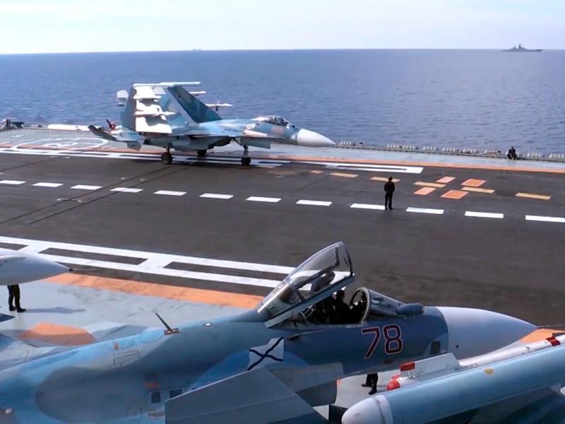 """Минобороны сокращает группировку сил в Сирии, первыми уходят авианосцы во главе с """"Адмиралом Кузнецовым"""""""
