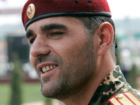 Командир полка 141 СМП Алибек Делимханов, 8 апреля 2012 года
