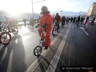 В Москве потеплело до минус 26, велопарад проехал по улицам