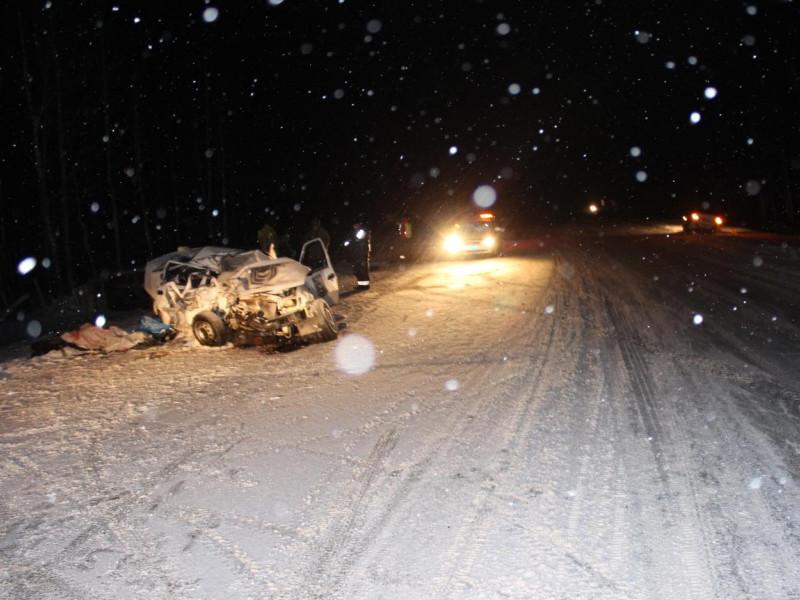 В ДТП на федеральной трассе в Тюменской области автобус столкнулся с легковушкой, трое погибших