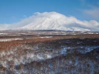Камчатский вулкан Шивелуч выпустил столб пепла на высоту пять километров