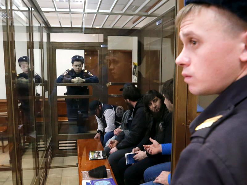 Обвиняемые в деле по убийству Бориса Немцова