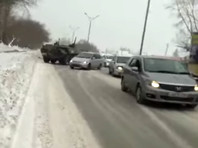 На окраине Новосибирска столкнулись два бронетранспортера (ВИДЕО)