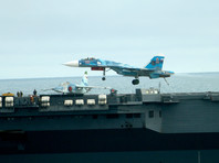 """Первая группа боевых самолетов вернулась с крейсера """"Адмирал Кузнецов"""" на базу (ВИДЕО)"""
