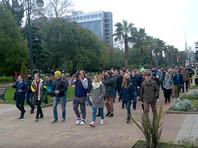"""В Сочи полицейские изменили """"пикет"""" на """"митинг"""" в протоколе задержания протестовавших """"против Димона"""""""