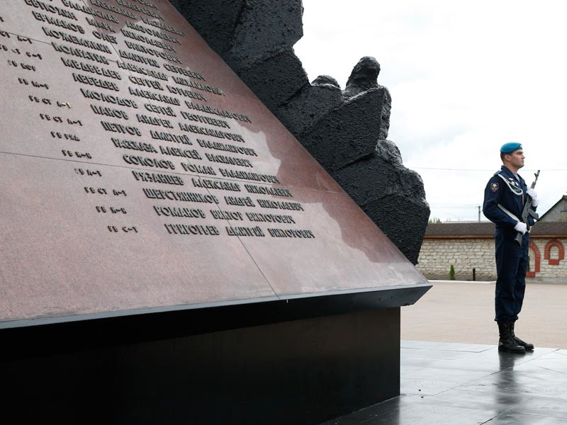 В Пскове почтили память десантников, погибших в Аргунском ущелье Чечни в 2000 году