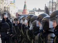 При разгоне массовой акции в Москве полицейский получил черепно-мозговую травму