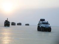 Экспедиция Минобороны впервые прошла на снегоболотоходах от материка до острова Котельный