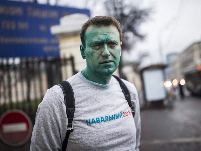 В Сети появилось ВИДЕО нападения на Навального с зеленкой 27 апреля
