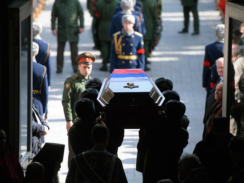 На церемонии прощания с летчиком-космонавтом Георгием Гречко