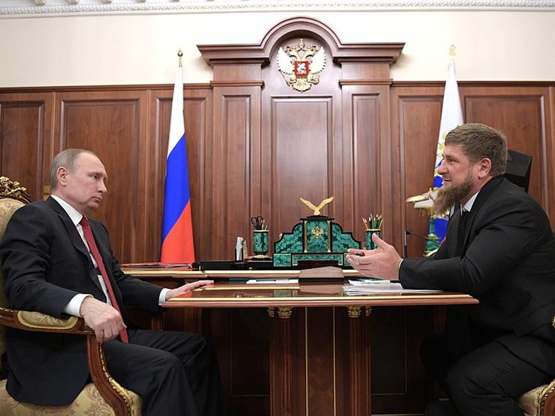 Президент РФ Владимир Путин в Кремле провел рабочую встречу с главой Чечни Рамзаном Кадыровым