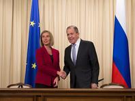 Лавров  обсудил с Могерини вопрос санкций, удивившись позиции ЕС