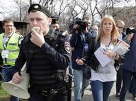 """В Москве шествие """"Надоел"""" пропустили к администрации президента"""