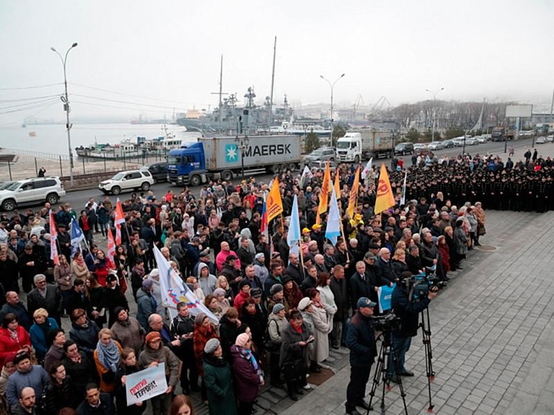 Во Владивостоке в четверг, 6 апреля, состоялся митинг в память о погибших в теракте в Санкт-Петербурге