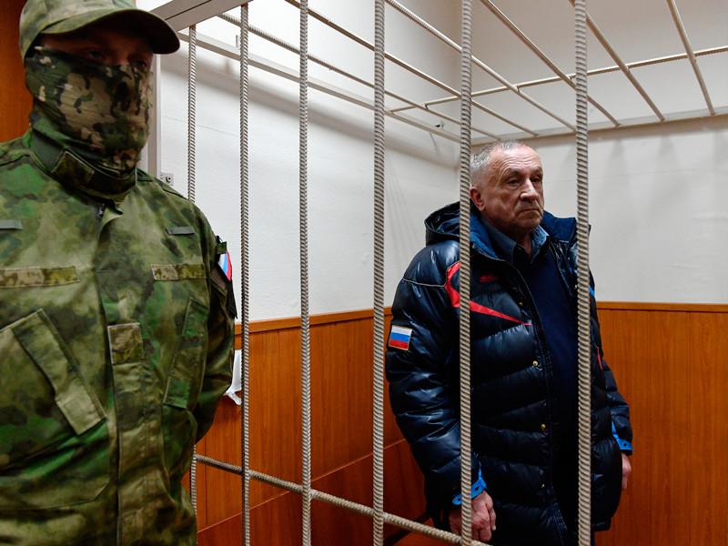 Бывший глава Удмуртии Александр Соловьев во время рассмотрения ходатайства следствия о его аресте в Басманном суде, 4 апреля 2017 года