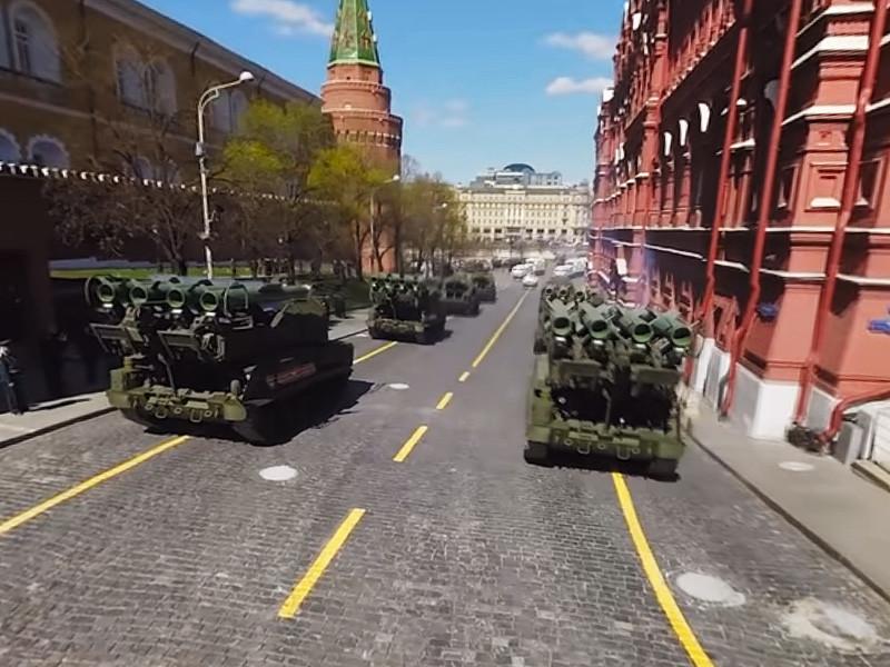 """Министерство обороны России опубликовало панорамную видеозапись генеральной репетиции парада Победы на Красной площади, состоявшейся 7 мая 2017 года. Видео снято с использованием технологии """"360 градусов"""" - так называемой сферической съемки, сообщается на сайте военного ведомства"""