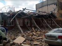 В Ленинградской области рухнул этаж почти достроенной школы (ВИДЕО)