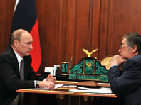Владимир Путин и Аман Тулеев, апрель 2015 года