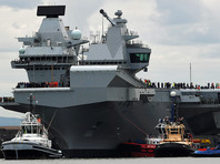"""В Минобороны РФ назвали """"удобной морской целью"""" новый британский авианосец"""