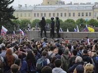 В Санкт-Петербурге произошли многочисленные задержания граждан, пришедших 12 июня на Марсово поле