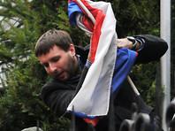 Следственный комитет завел уголовное дело на украинского депутата Парасюка, растоптавшего триколор у российского Генконсульства во Львове