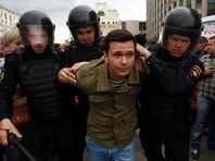 В Москве и Петербурге жестко задержали сотни участников протестных акций