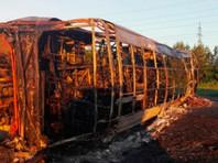 В ГИБДД назвали причину возгорания опрокинувшегося в Татарстане автобуса