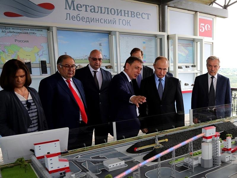 Визит на комбинат - крупнейшее в России и СНГ предприятие по добыче и обогащению железной руды, производству высококачественного железорудного сырья и металлоресурсов - был приурочен к 50-летию предприятия и грядущему Дню металлурга
